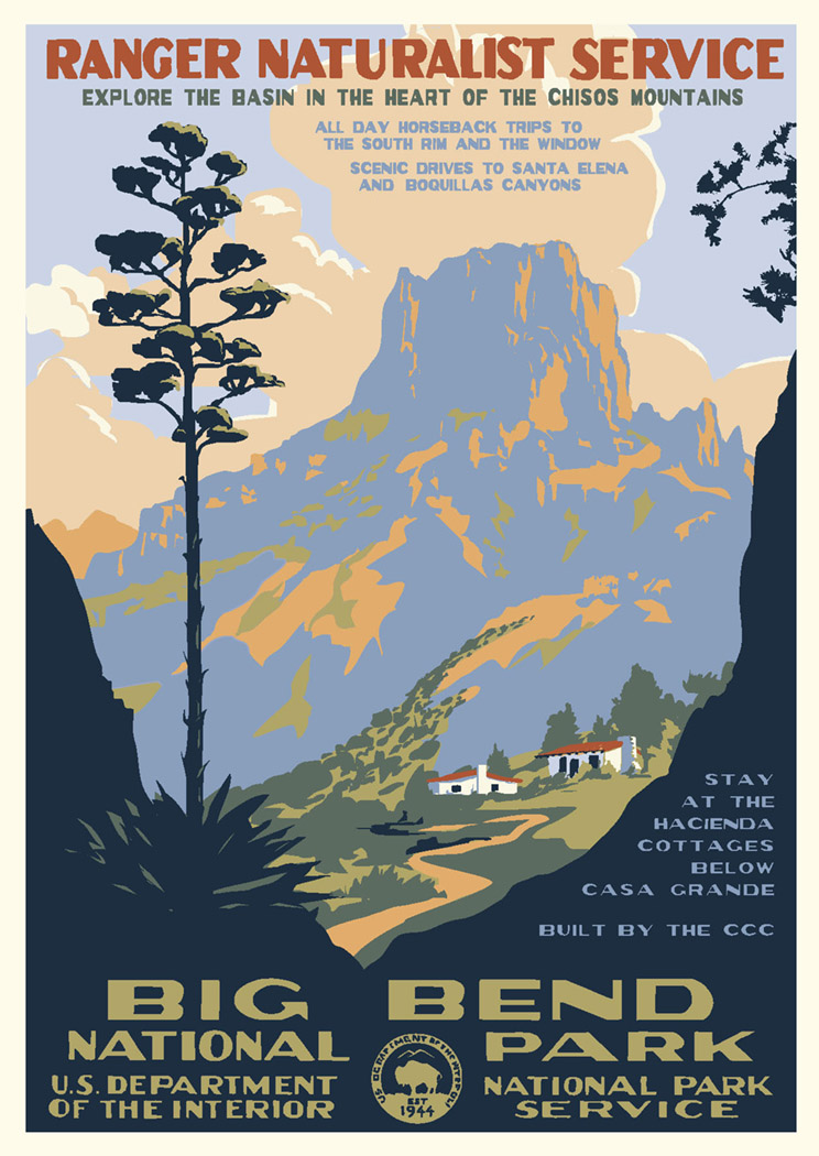 Big Bend National Park Vintage Poster Discovernw Org