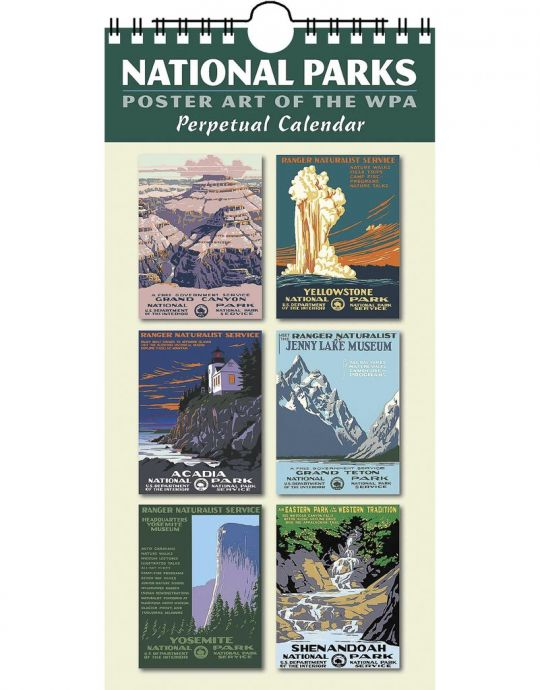 National Parks Poster Art Of The Wpa Perpetual Calendar Discovernw Org
