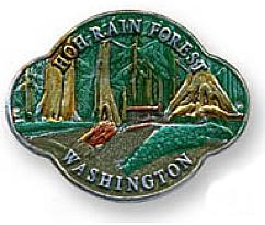 North Cascades National Park Walking Hiking Stick Medallion Washington